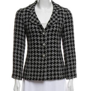 CHANEL Tweed Notch-Lapel Blazer Size 40